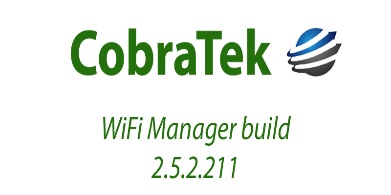 WiFi Manager build 2.5.2.211 released
