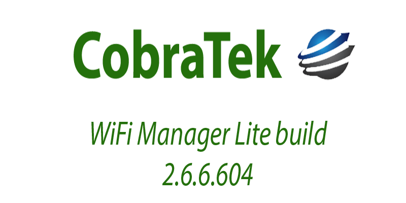 WiFi Manager Lite build 2.6.6.604 released